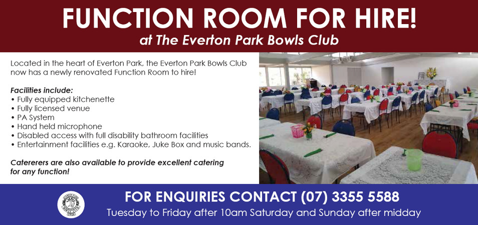 Everton Park Bowls Club - Function Room For Hire